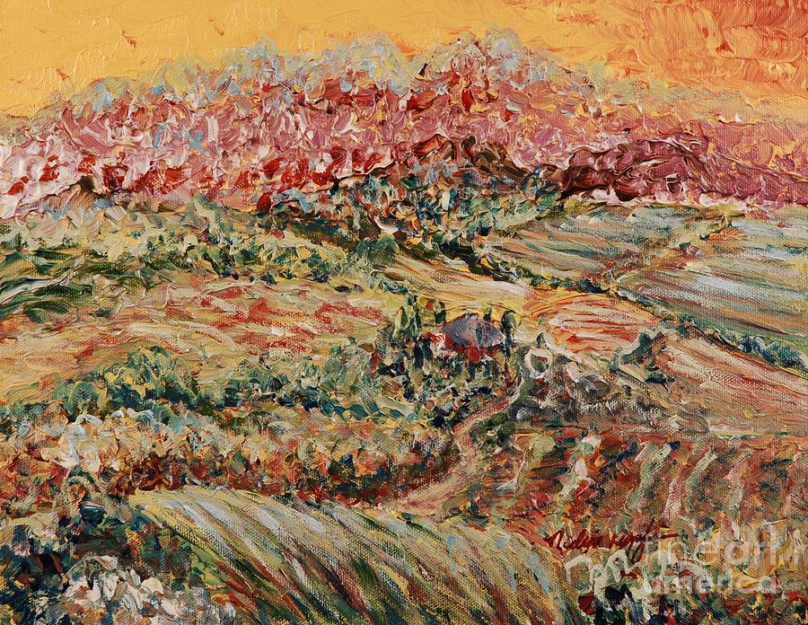 Provence Painting - Golden Provence by Nadine Rippelmeyer