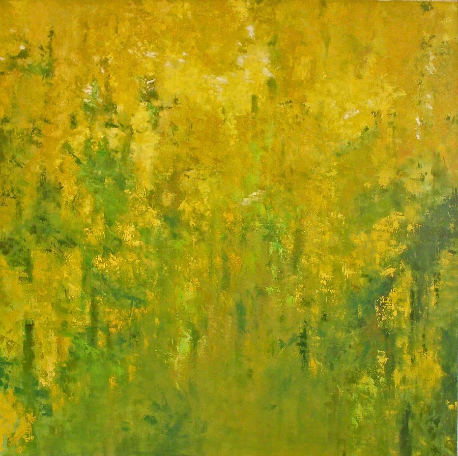 Landscape Painting - Golden Rain-laburnum by Krystyna Suchwallo