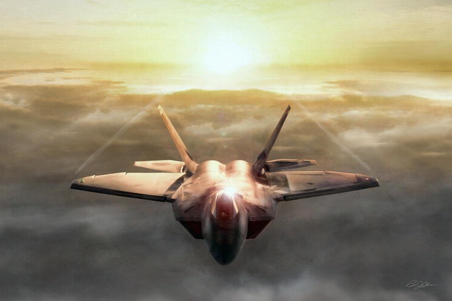 Aviation Digital Art - Golden Raptor by Peter Chilelli
