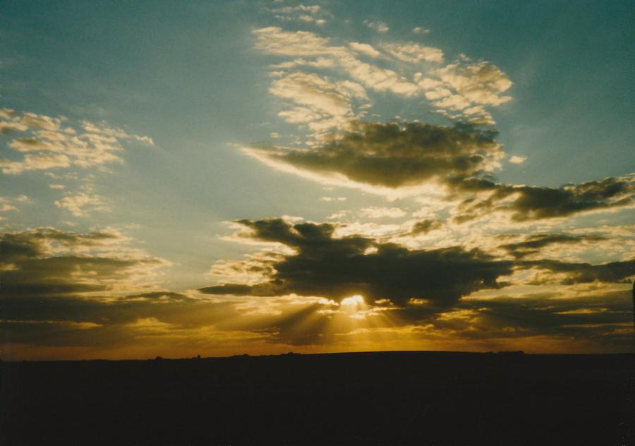 Sky Photograph - Golden Rays  by Gene Linder