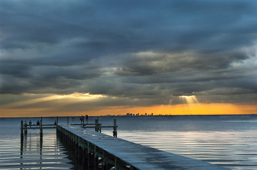 Sunset Photograph - Golden Rays by Norman Johnson