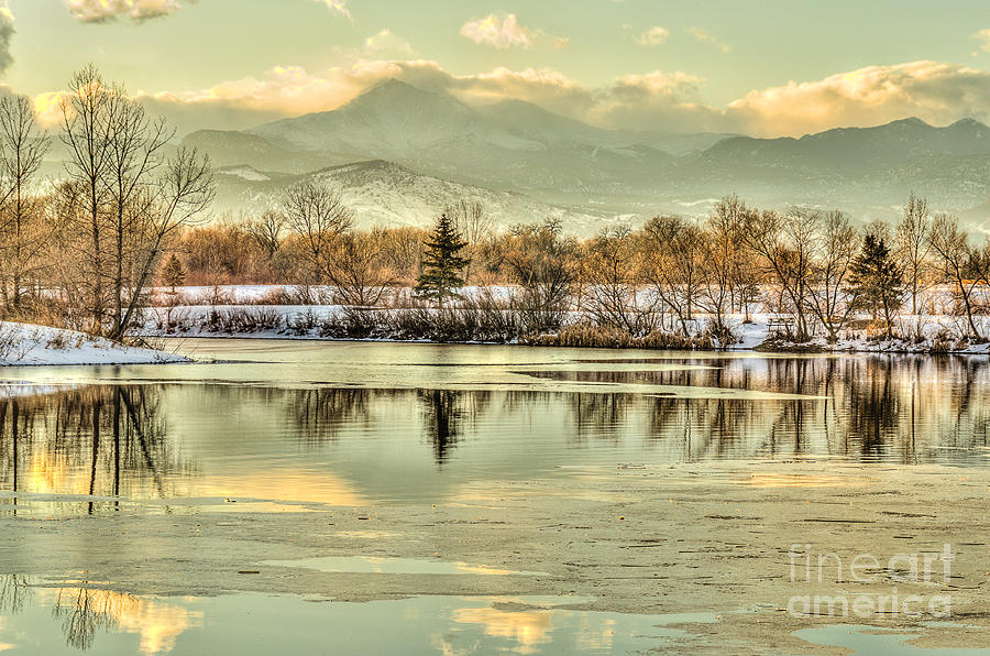 Reflections Photograph - Golden Reflections by Greg Summers