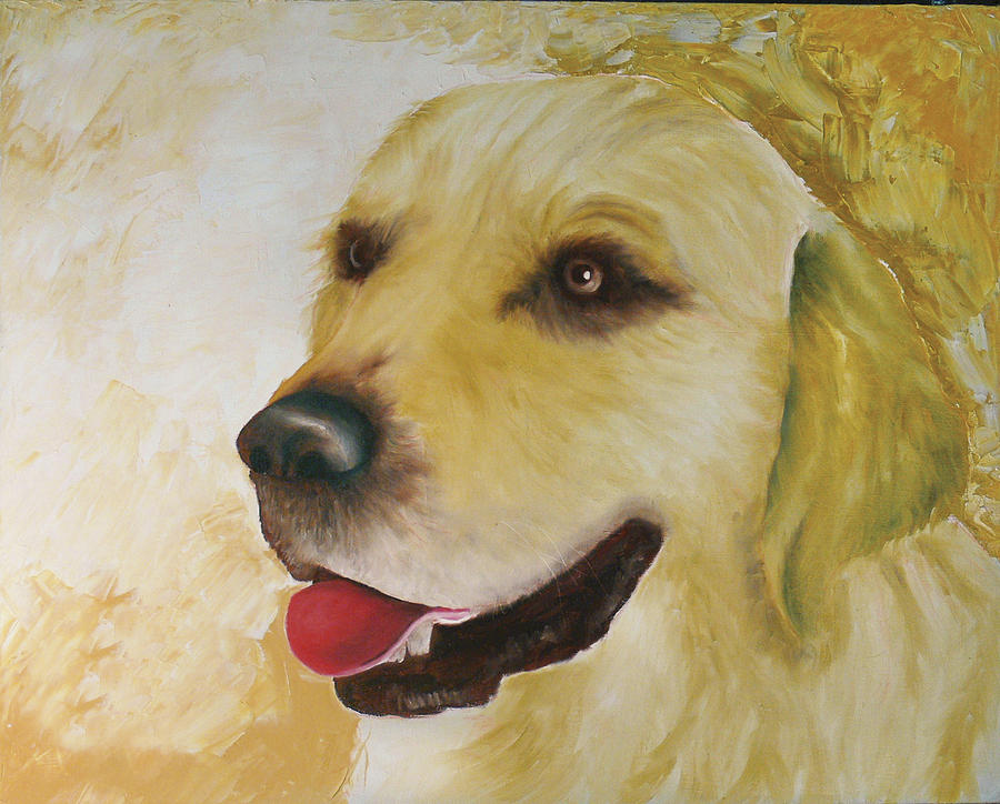 Golden Retriever Painting by Dick Larsen
