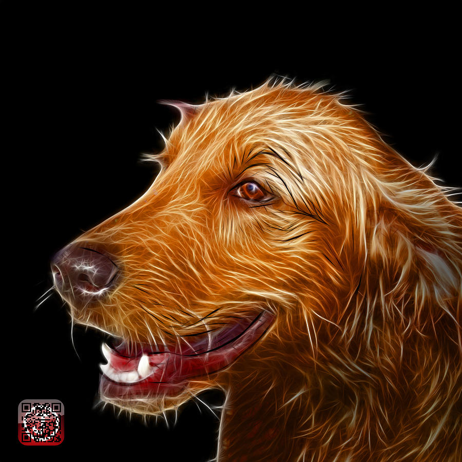 Golden Retriever Dog Art- 5421 - BB by James Ahn