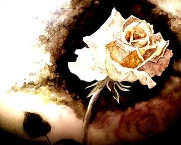 Golden Rose Painting by Ruth Kongaika