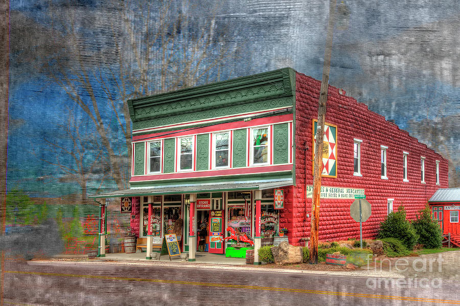 Hdr Photograph - Golden Rule Store by Larry Braun