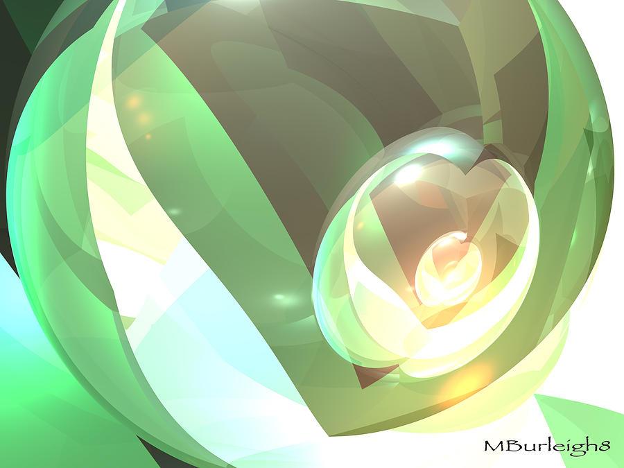 Bryce Digital Art - Golden Seed by Michael Burleigh