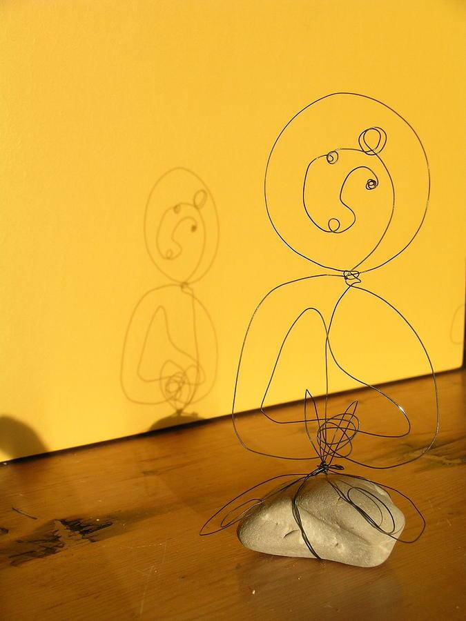 Golden Shadow Sculpture by Live Wire Spirit