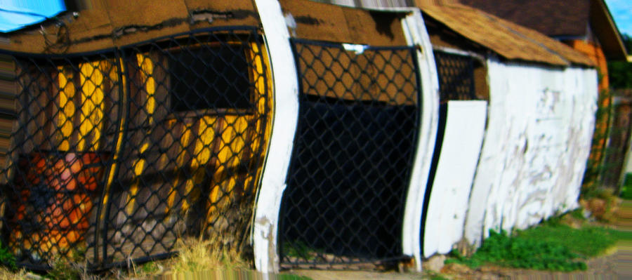Abstract Digital Art - Golden Shed by Lenore Senior