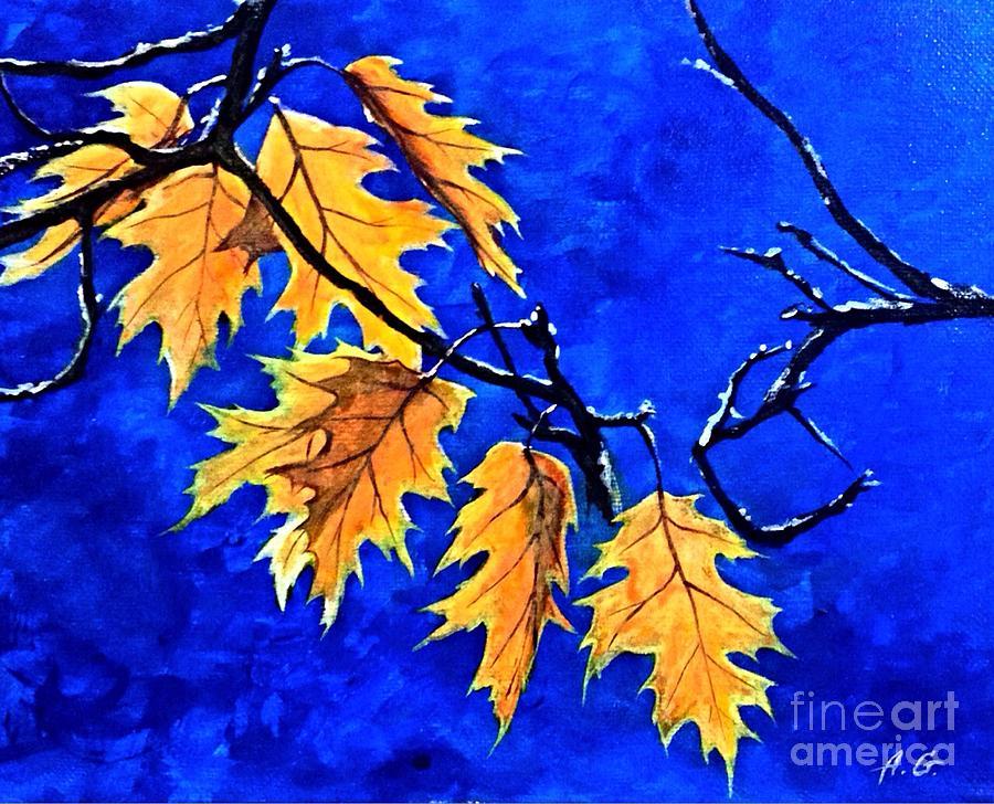 Sunny Painting - Golden Shining Leafs  by Alexander Gatsaniouk
