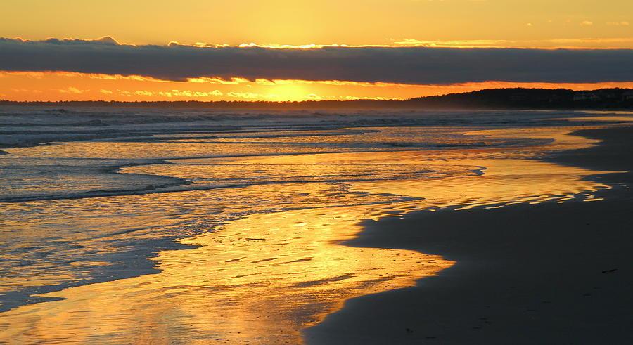Sunset Photograph - Golden Shore by Rosanne Jordan
