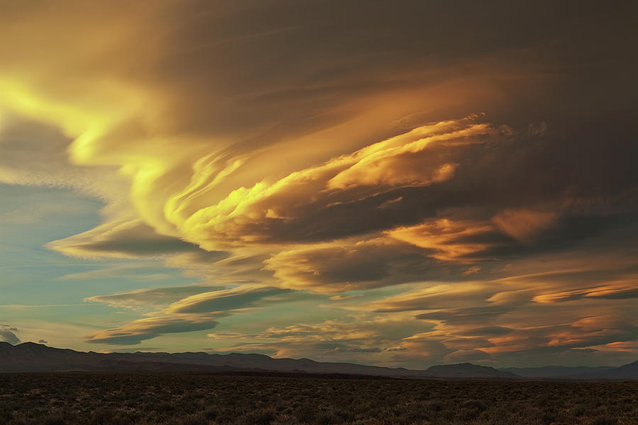 Eastern Sierra Photograph - Golden Sierra Wave by Nolan Nitschke