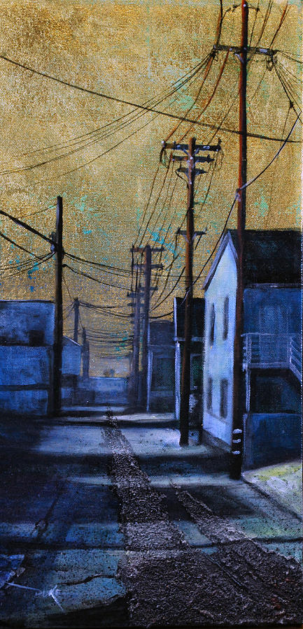 Cityscape Painting - Golden Skies No. 1 by Duke  Windsor