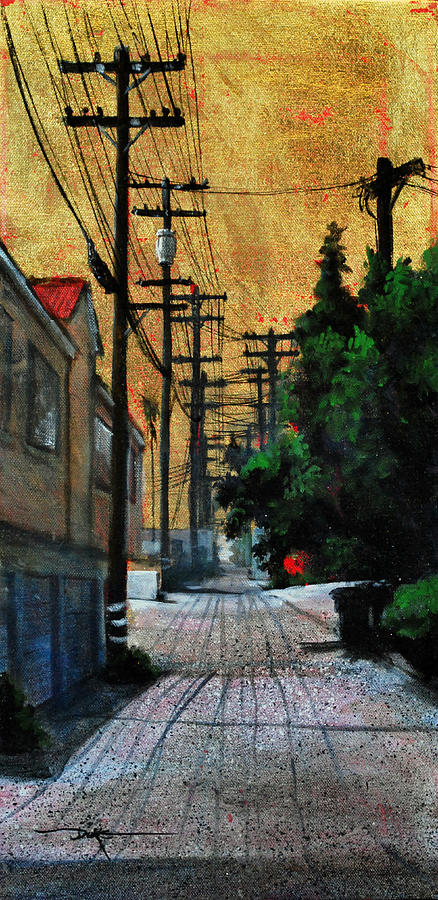 Cityscape Painting - Golden Skies No. 3 by Duke  Windsor