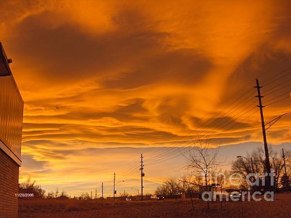 Colorado Photograph - Golden Sky by Dawn Johnson