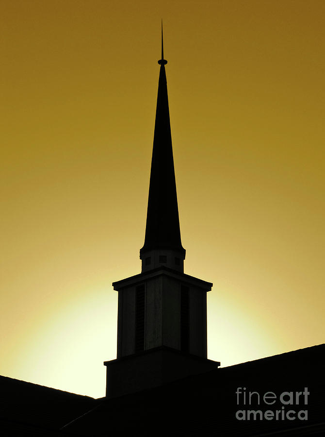 Cml Brown Photograph - Golden Sky Steeple by CML Brown
