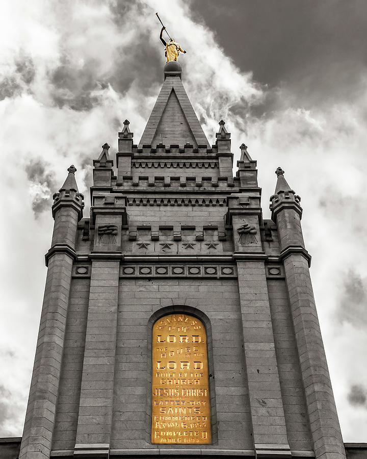 Lds Temple Photoagraphy Photograph - Golden Slc Temple by La Rae  Roberts