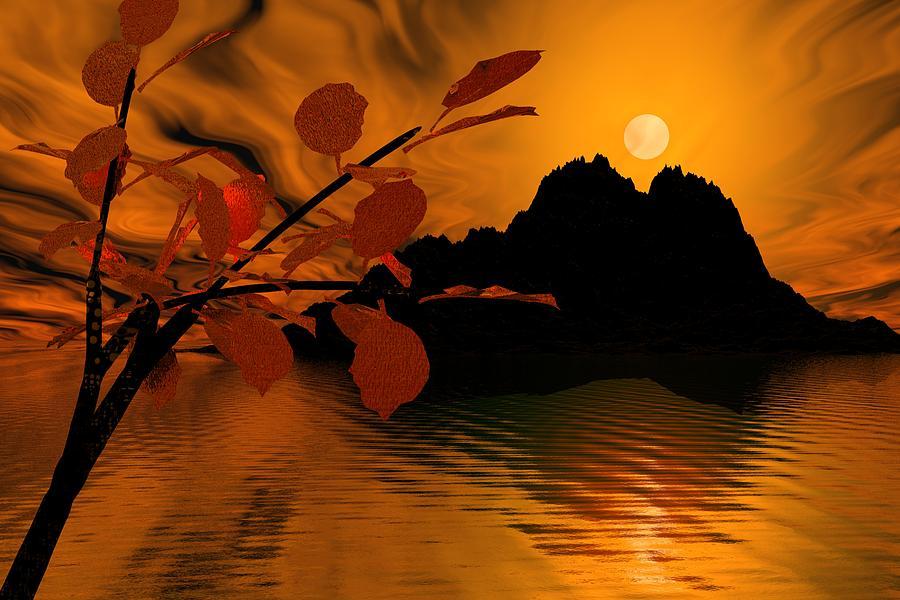 Landscape Digital Art - Golden Slumber Fills My Dreams. by David Lane