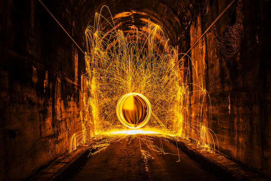 Golden Spinning Sphere Photograph by Pelo Blanco Photo