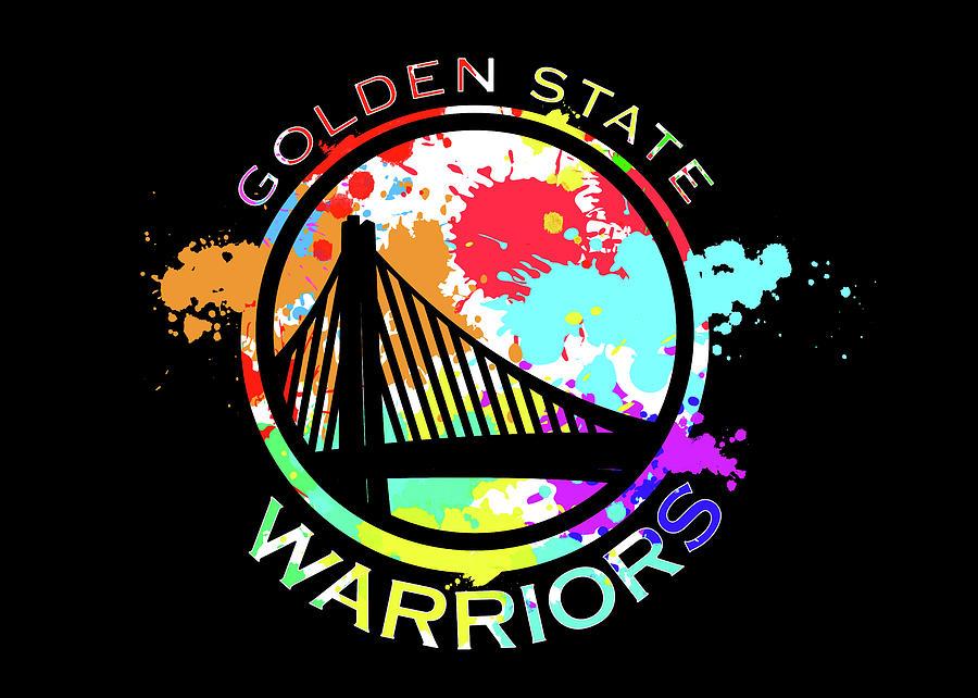 Golden State Warriors Digital Art - Golden State Warriors Pop Art by Ricky Barnard