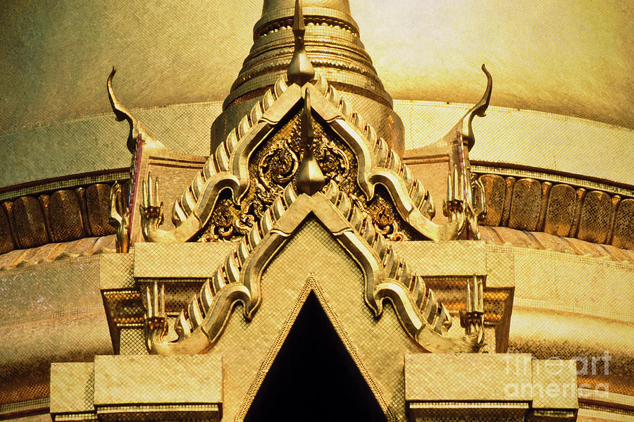 Golden Stupa Detail Wat Phra Kaew Photograph