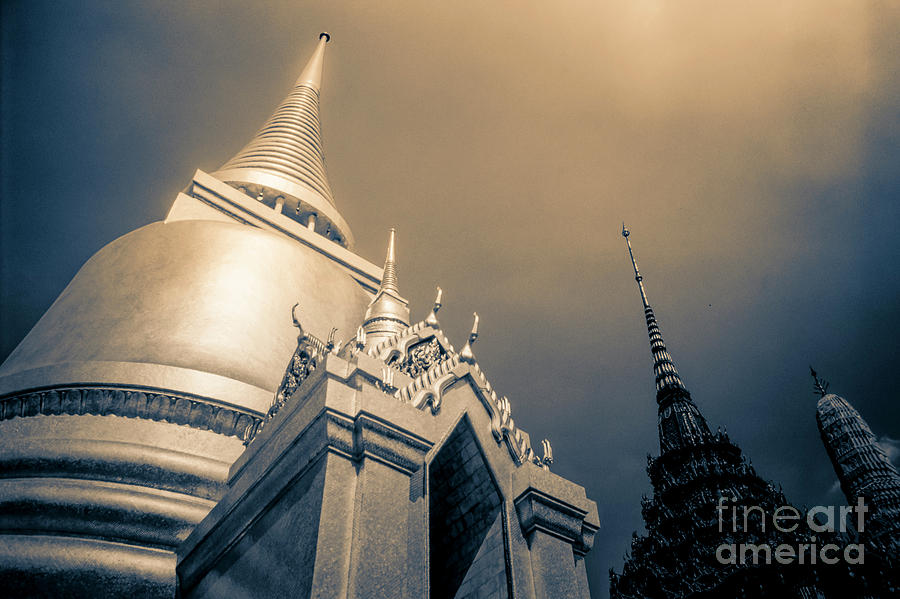 Golden Stupa Wat Phra Kaew Temple  2 Photograph