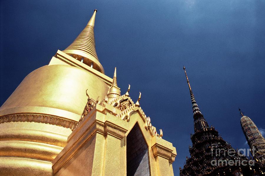 Golden Stupa Wat Phra Kaew Temple Photograph