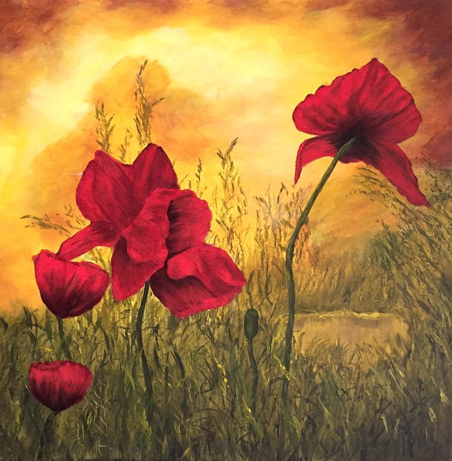 Golden Summer Painting by Francesca Deluca