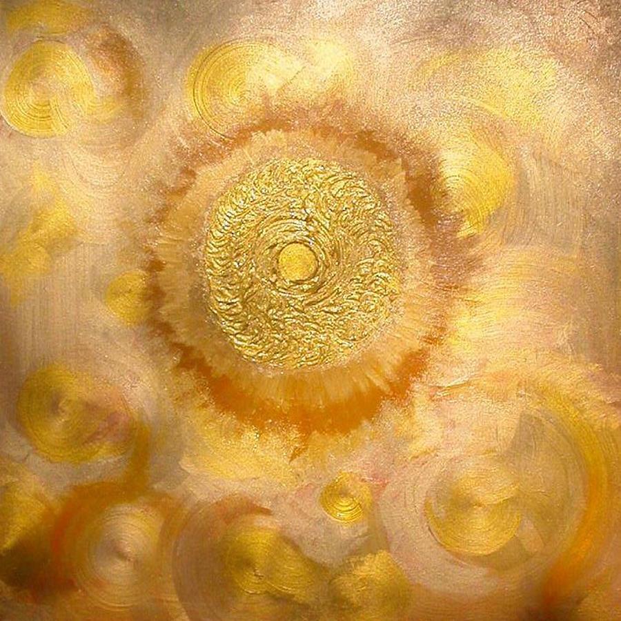Astrology Painting - Golden-sun by Ramon Labusch