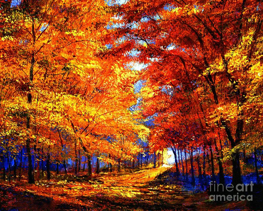 Impressionism Painting - Golden Sunlight by David Lloyd Glover
