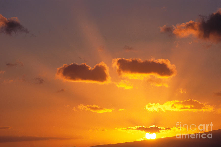 Cloud Photograph - Golden Sunset by Carl Shaneff - Printscapes