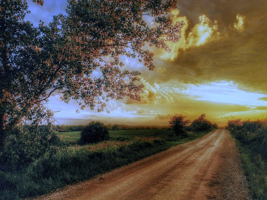 Sunset Photograph - Golden Sunset by Dustin Soph