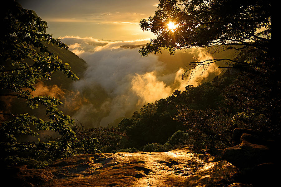 Golden Sunset in the Mountains by Lj Lambert
