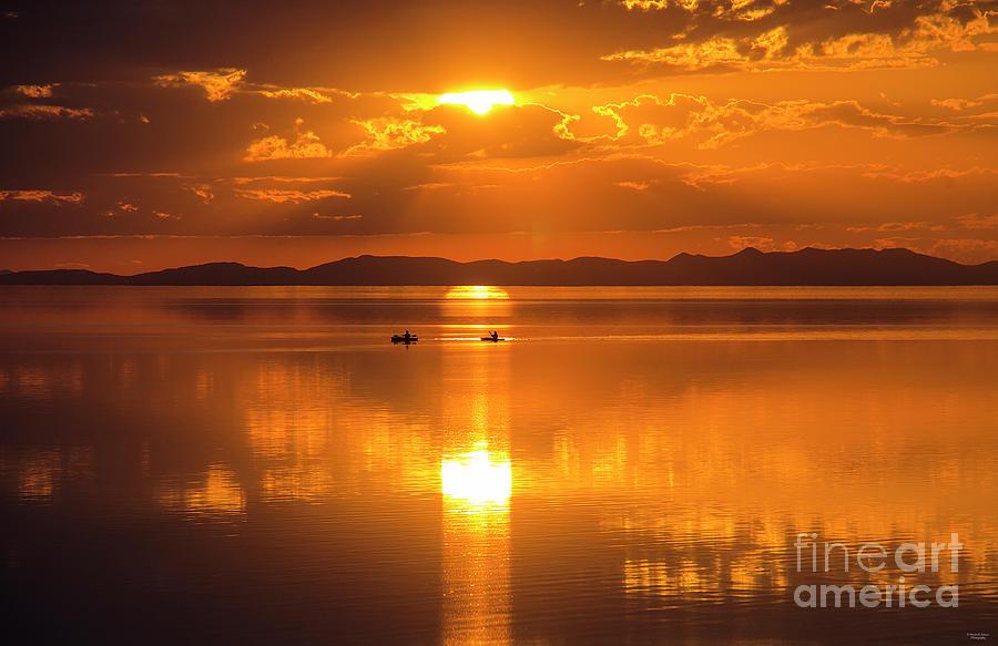 Sunset Photograph - Golden Sunset by Nicole Markmann Nelson