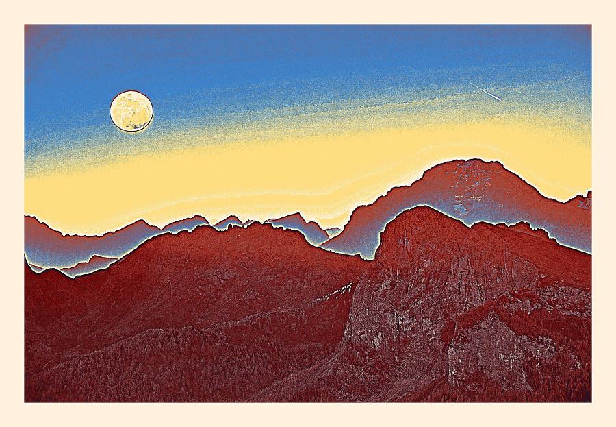 Golden Sunset Over Sierras Poster By Adam Asar 2m Painting