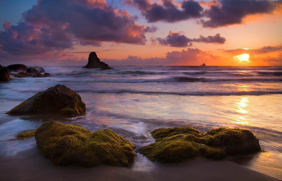 Sunset Photograph - Golden Tides by Mike  Dawson