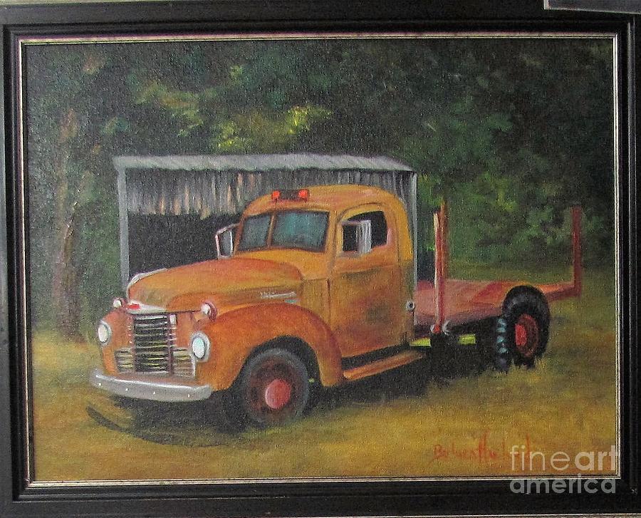 International Painting - Golden Truck  by Barbara Haviland