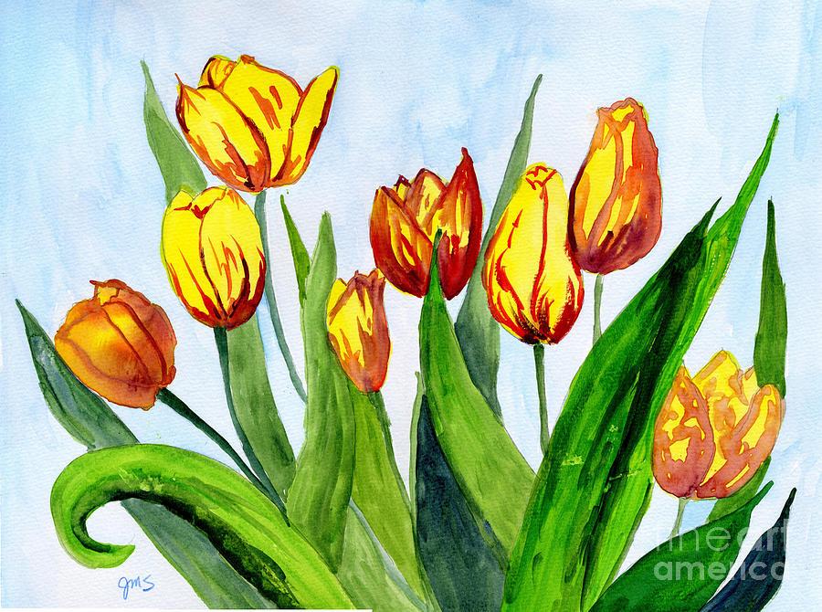 Golden Tulips by Julia Stubbe