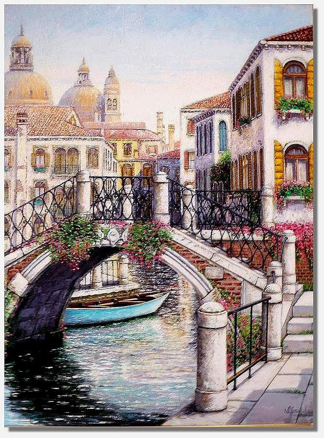 Venice Painting - Golden Venice by I Joseph
