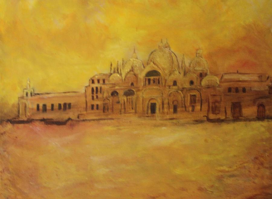 Architecture Painting - Golden Venice by Michela Akers