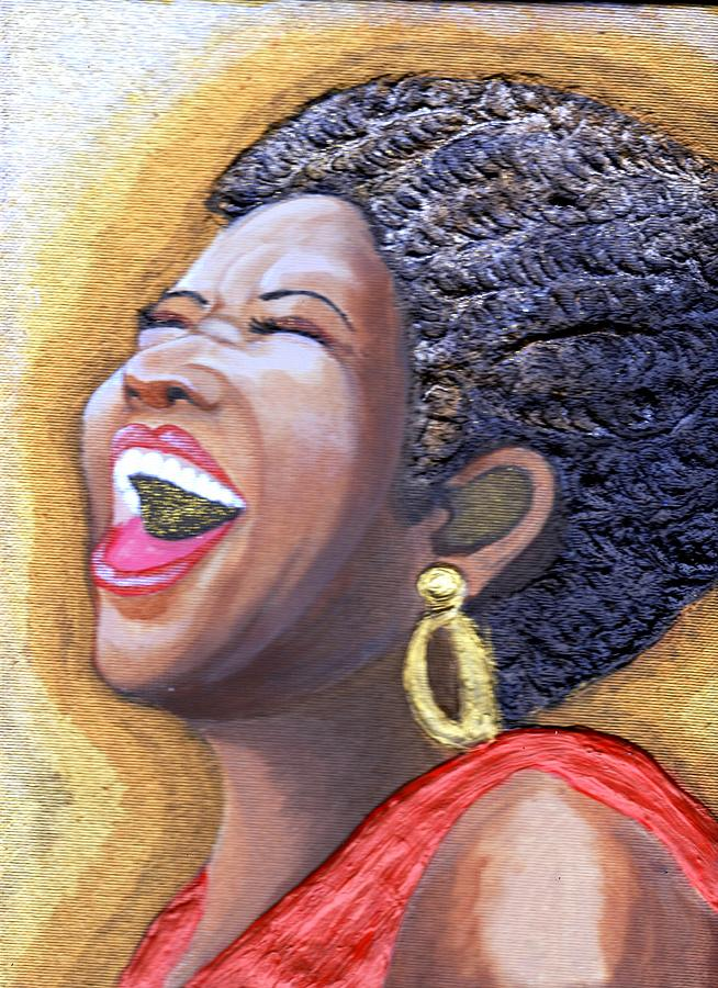Singing Painting - Golden Voice  by Keenya  Woods