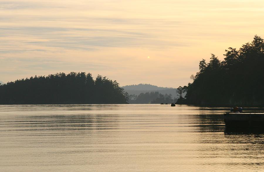 Sunset Photograph - Golden Waters by Doug Johnson