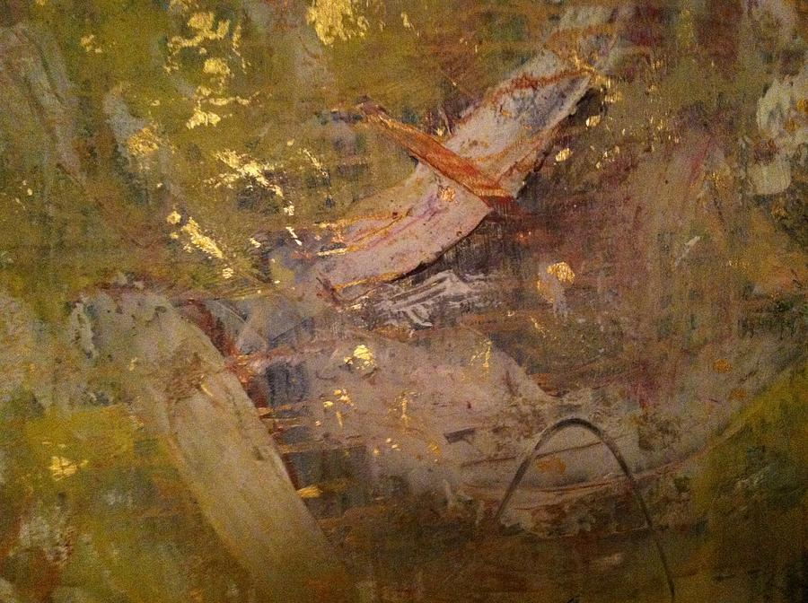 Wind Painting - Golden Wind by Uldra Patty Johnson