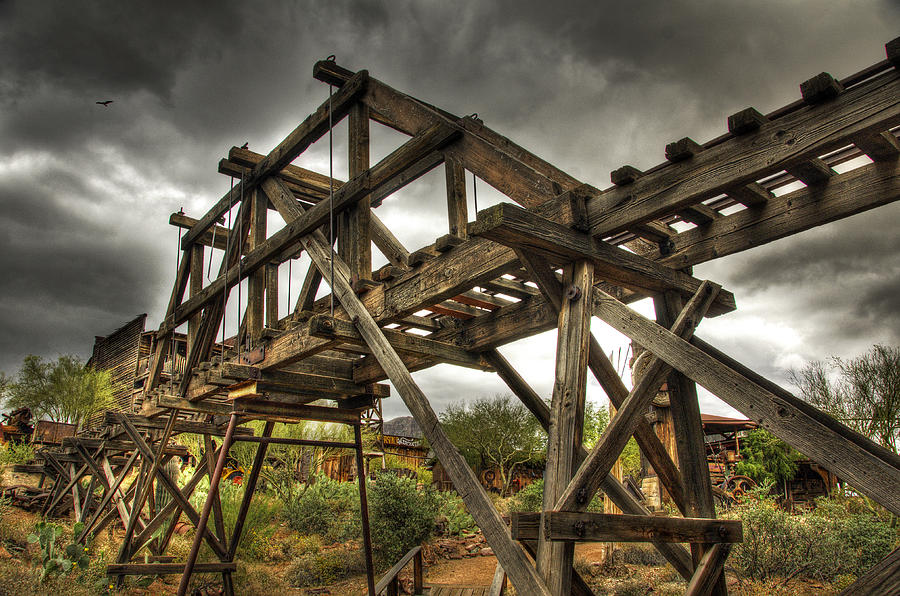 Goldfield Ghost Town Photograph - Goldfield Ghost Town - The Bridge  by Saija  Lehtonen