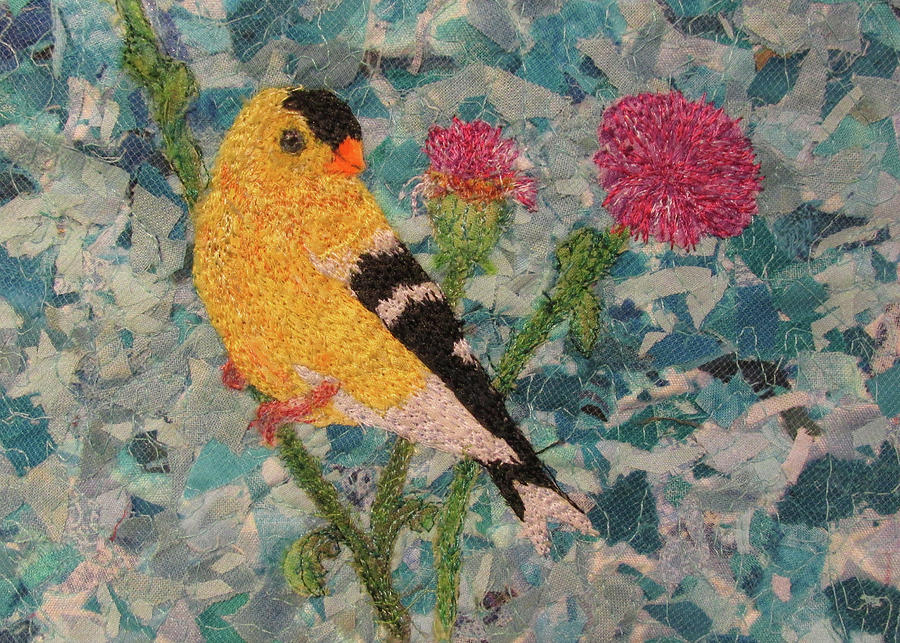 Goldfinch Tapestry - Textile - Goldfinch by Dolores Fegan