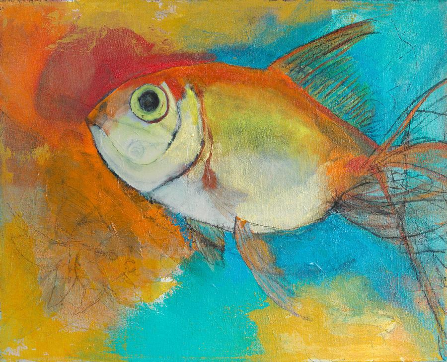 Goldfish Painting - Goldfish by Amy Shamansky