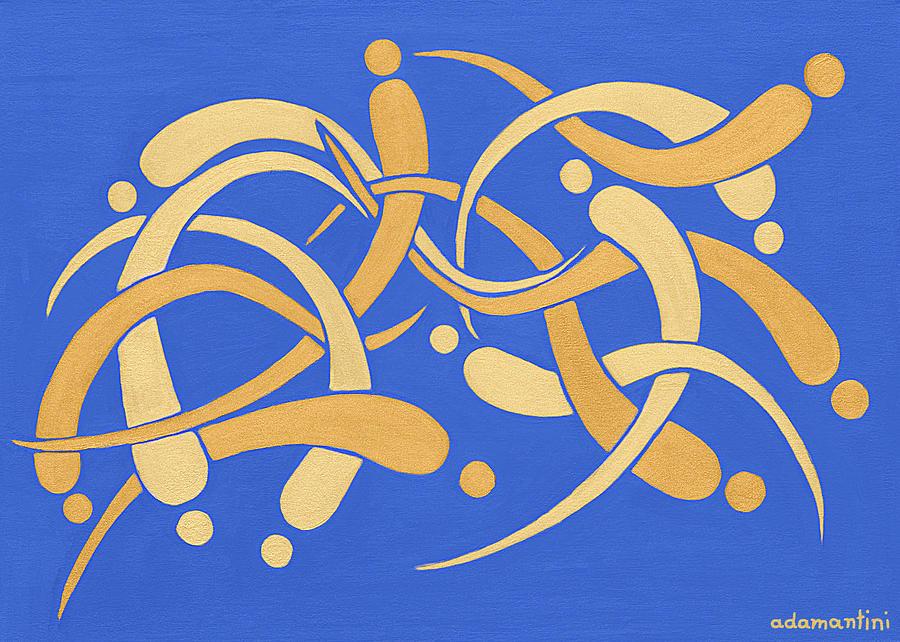 Adama Painting - Goldfish Feng Shui by Adamantini Feng shui