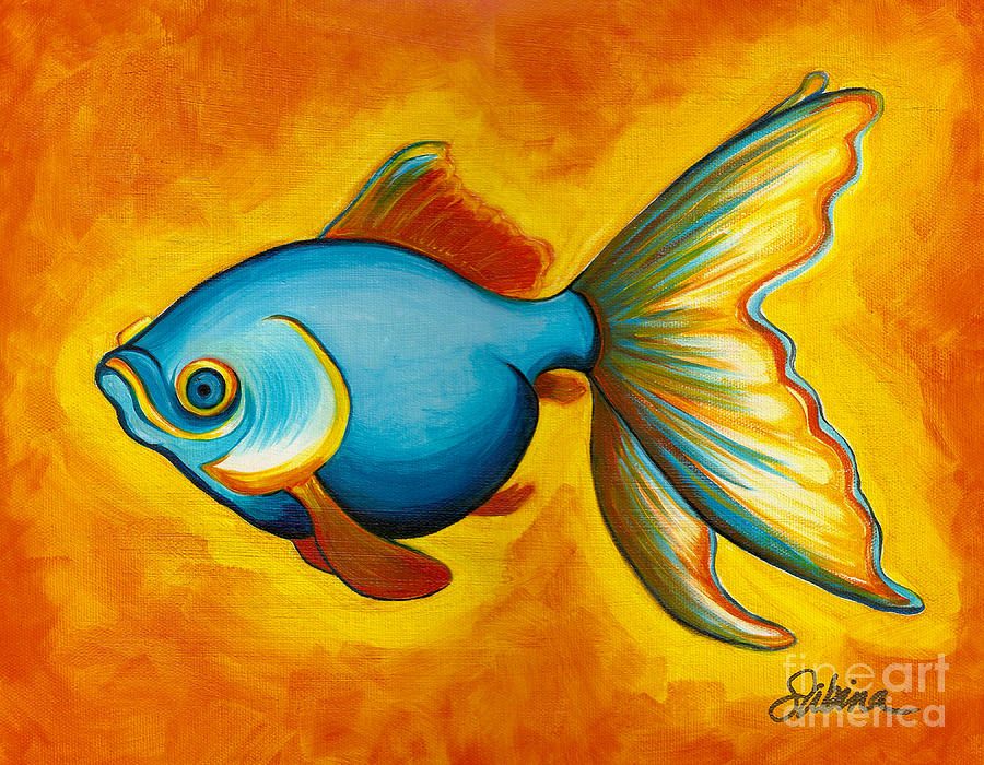 Goldfish Painting By Sabina Espinet