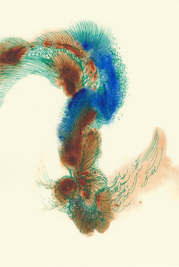 Goldfish Drawing - Goldfish - #ss14dw025 by Satomi Sugimoto