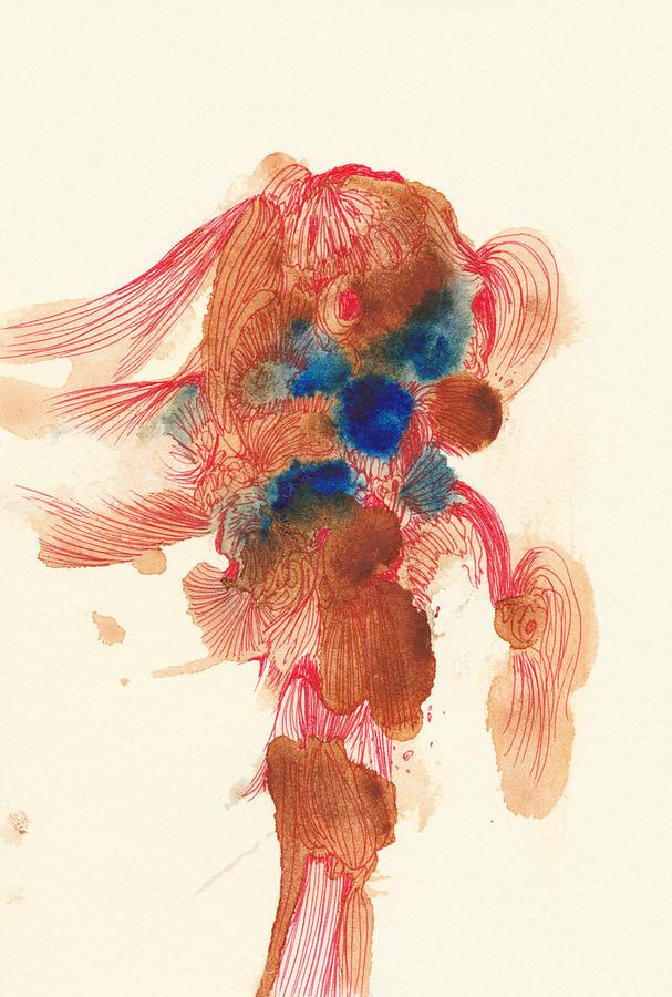 Fish Drawing - Goldfish- #ss14dw029 by Satomi Sugimoto